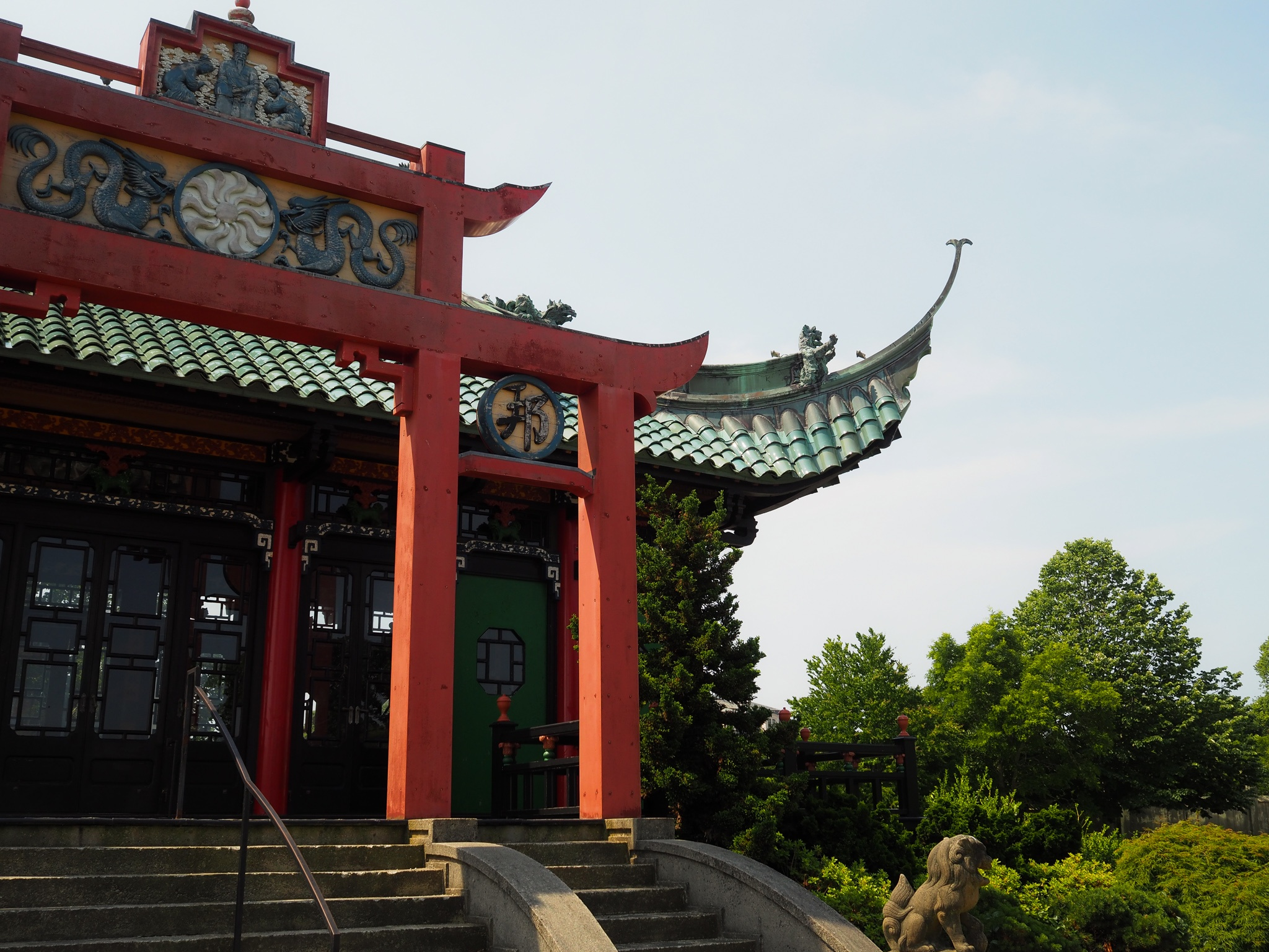 Chinese Tea House: The Chinese Tea House is located at the Marble House and was built by Mrs. Vanderbilt to host rallies for women's rights to vote.