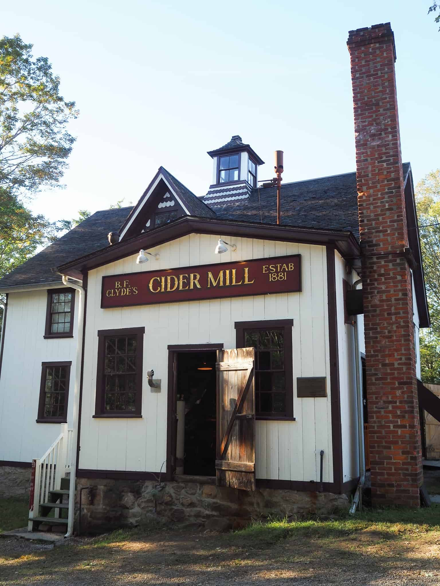 B. F. Clydes Cider Mill is the oldest steam powdered cider mill in the United States and has been operating since 1881. Clydes is deemed a national historic landmark. During the weekday you can get a glimpse into the old mill. During the weekends, however, there are apple cider demonstrations were you can able to walk into the mill and view the steam powered engine in process.